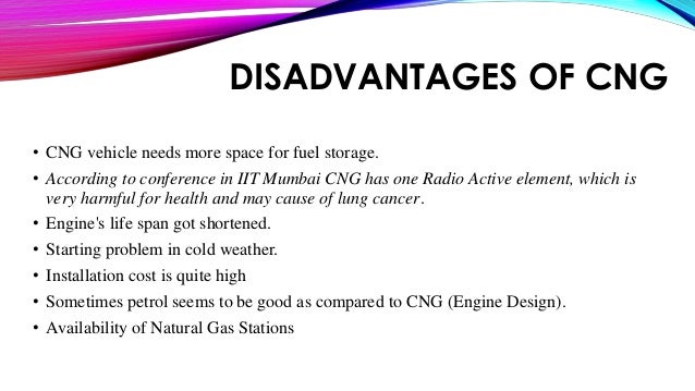 disadvantages of cng vehicles
