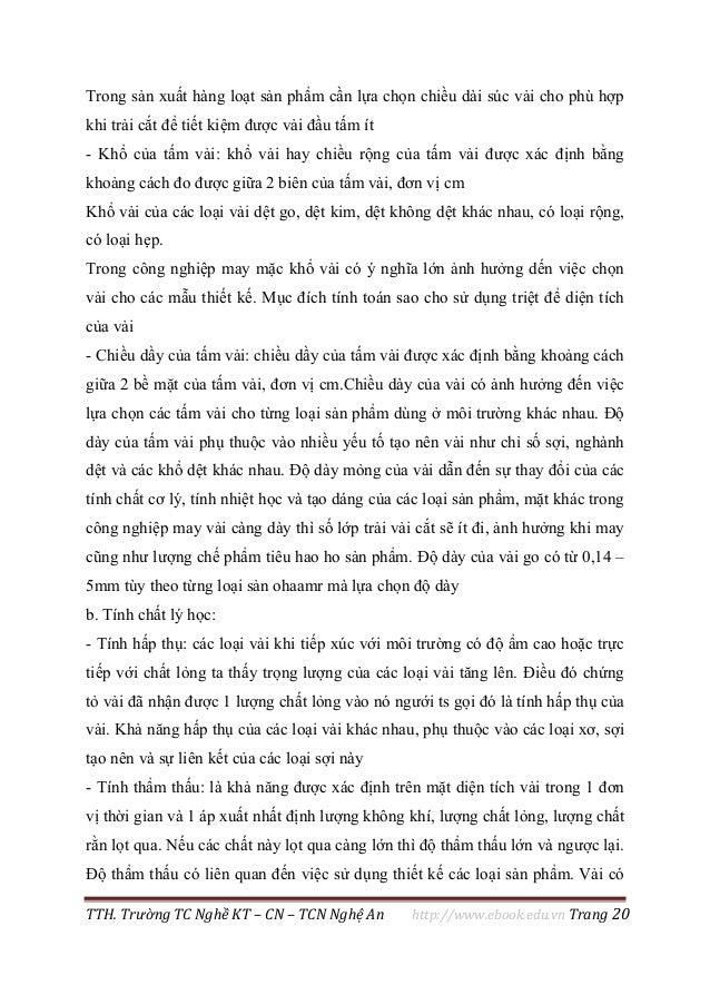TTH. Trường TC Nghề KT – CN – TCN Nghệ An http://www.ebook.edu.vn Trang 20 Trong sản xuất hàng loạt sản phẩm cần lựa chọn ...