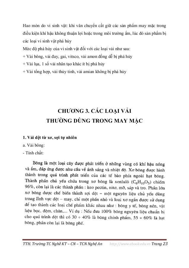 TTH. Trường TC Nghề KT – CN – TCN Nghệ An http://www.ebook.edu.vn Trang 23 Hao mòn do vi sinh vật: khi vân chuyển cất giữ ...