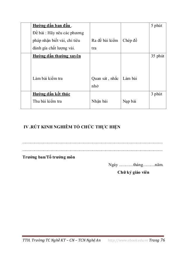 TTH. Trường TC Nghề KT – CN – TCN Nghệ An http://www.ebook.edu.vn Trang 76 Hướng dẩn ban đầu . Đề bài : Hãy nêu các phương...