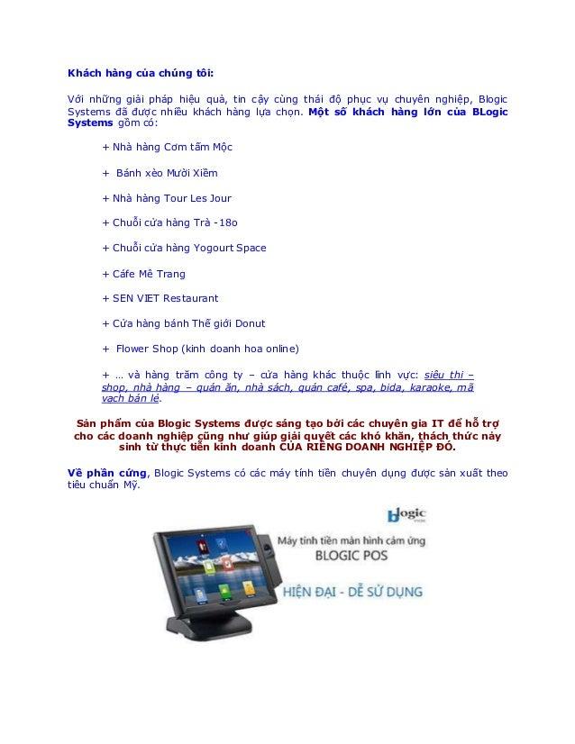 công nghệ máy tính tiền bán hàng Slide 3
