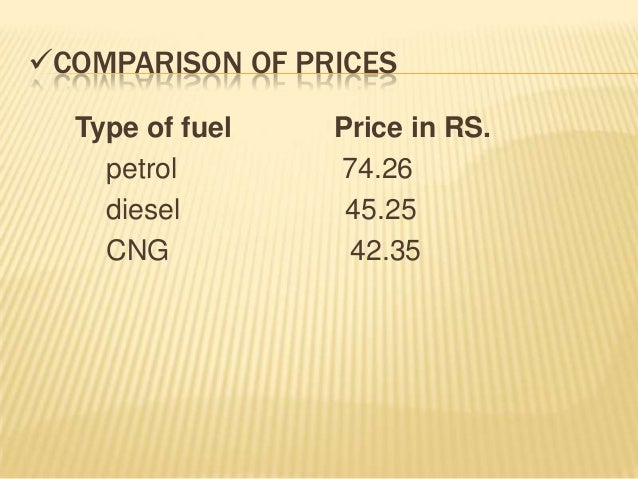 cng and petrol comparison