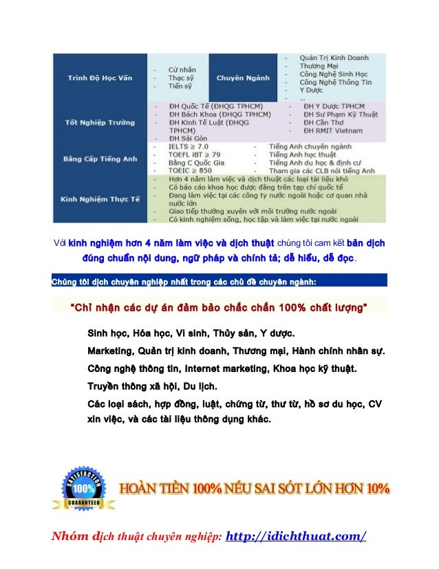Công ty dịch thuật việt sang anh chất lượng cao 2013 Slide 3