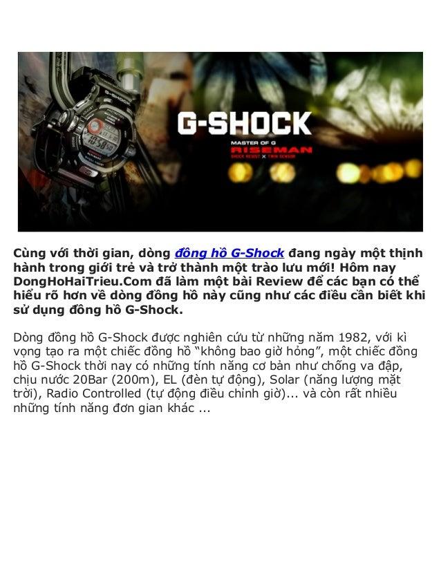 Cùng với thời gian, dòng đồng hồ G-Shock đang ngày một thịnhhành trong giới trẻ và trở thành một trào lưu mới! Hôm nayDong...