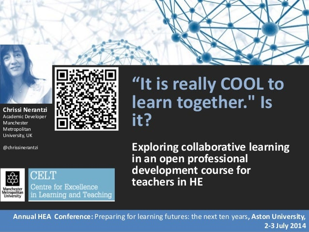 """""""It is really COOL to learn together."""" Is it? Exploring collaborative learning in an open professional development course ..."""