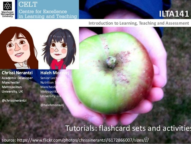 Chrissi Nerantzi Academic Developer Manchester Metropolitan University, UK @chrissinerantzi ILTA141 Introduction to Learni...