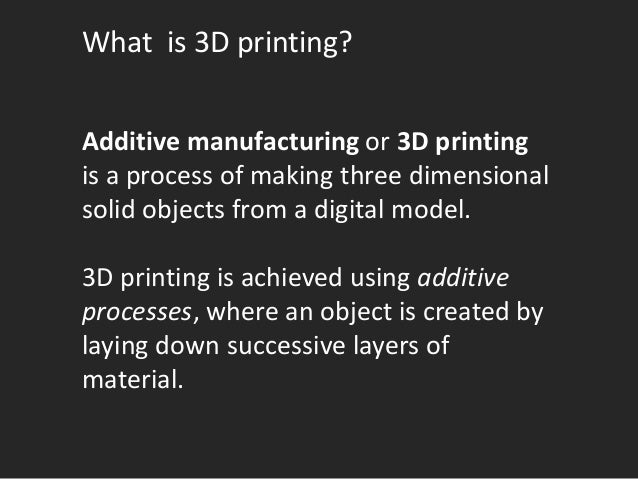 Academic Libraries as Makerspace: 3D Printing and Knowledge Creation Slide 3