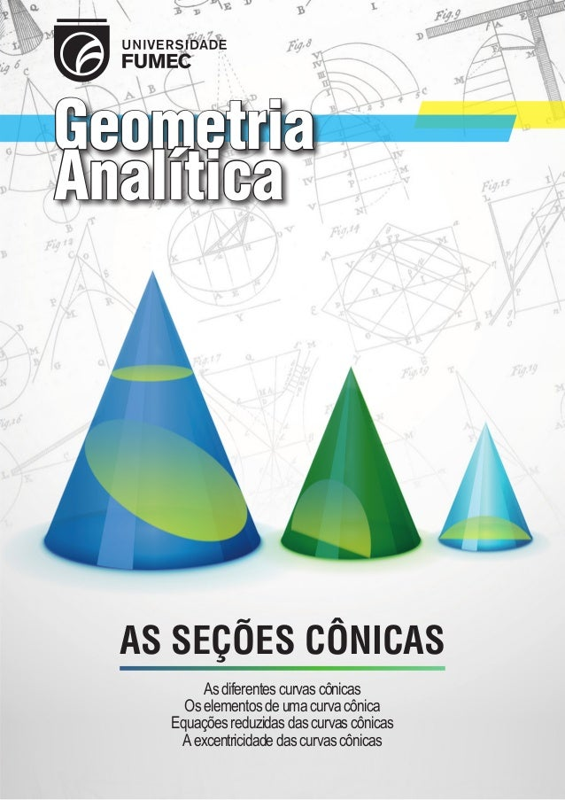 Geometria Analítica  AS SEÇÕES CÔNICAS As diferentes curvas cônicas Os elementos de uma curva cônica Equações reduzidas da...