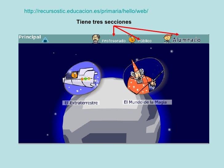 http://recursostic.educacion.es/primaria/hello/web/ Tiene tres secciones