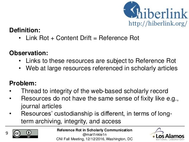 Reference Rot In Scholarly Communication A Reliable Quantification