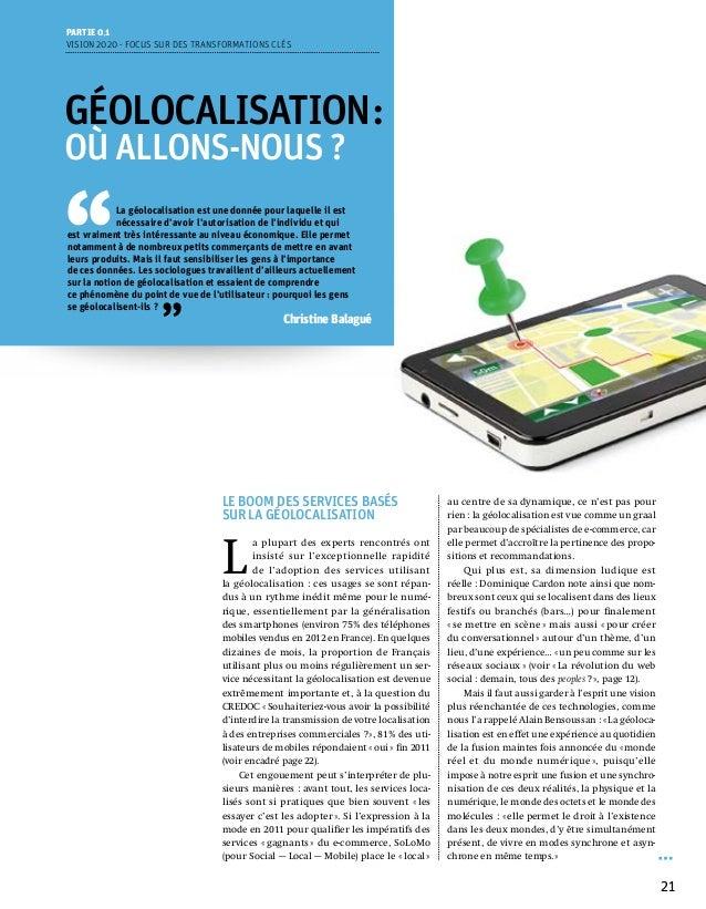 Partie 0 1Vision 2020 - Focus sur des transformations clésGéolocalisation:OÙ ALLONS-NOUS?''            La géolocalisatio...