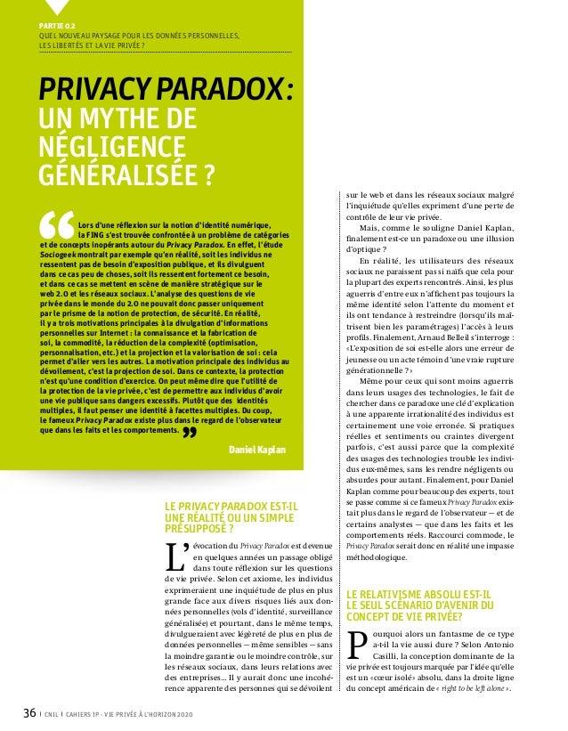 Vie privée à l'horizon 2020. Paroles d'experts
