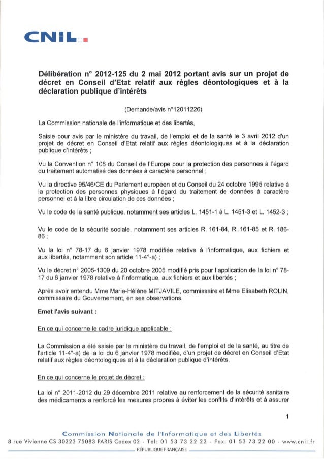 Avis CNIL décret DPI