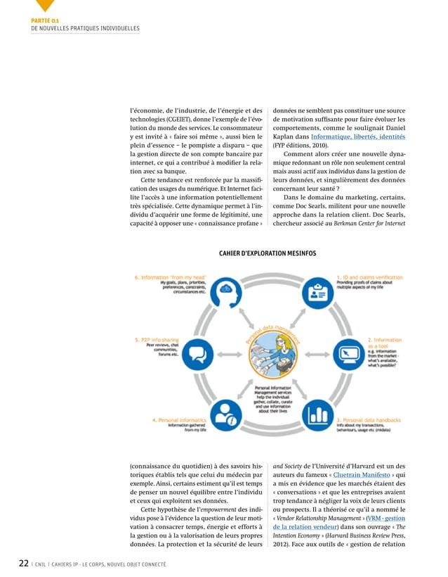 22 CNIL CAHIERS IP - LE CORPS, NOUVEL OBJET CONNECTÉ données ne semblent pas constituer une source de motivation suffisant...