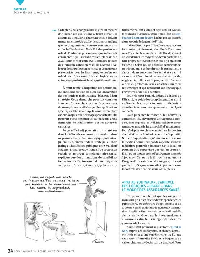 Le Corps, nouvel objet connecté  CNIL - Cahier Innovations et Perspectives n° 2