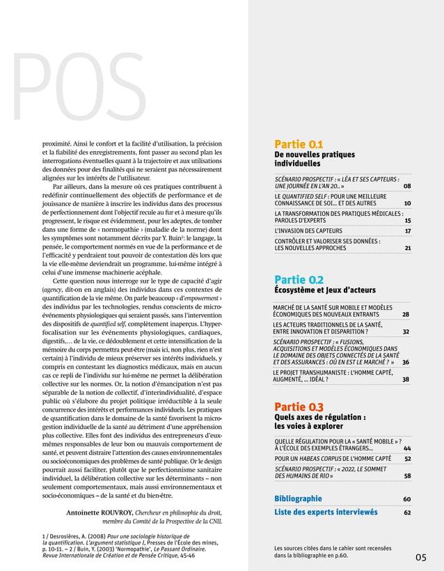 Partie 03 Quels axes de régulation: les voies à explorer Bibliographie  60 Liste des experts interviewés 62 Partie 01 D...