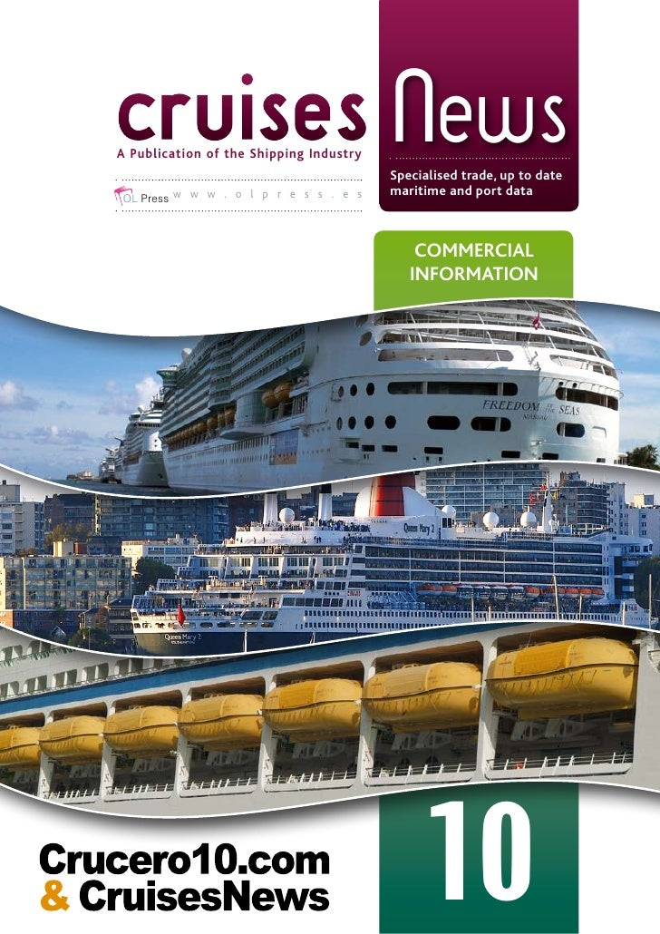 cruises News A Publication of the Shipping Industry                                          Specialised trade, up to date...