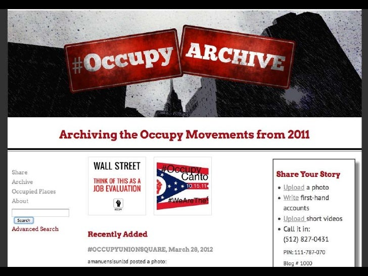 CNI OccupyArchive Introduction
