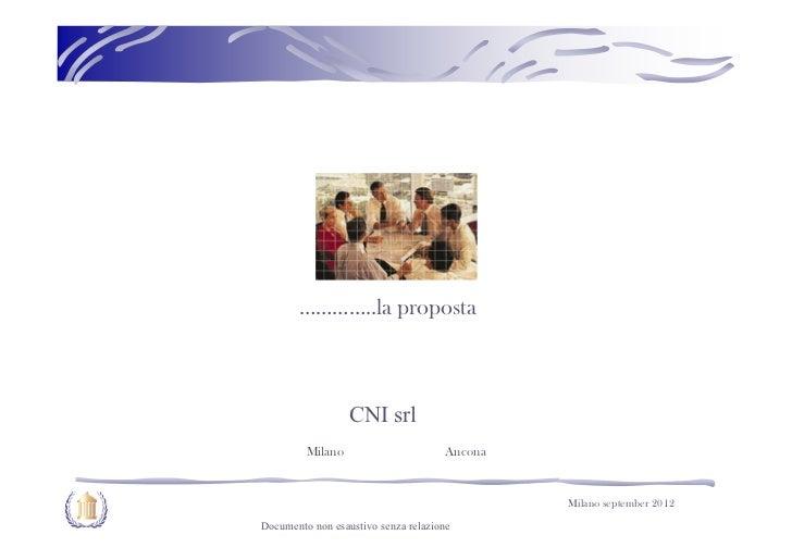 …………..la proposta                  CNI srl         Milano                      Ancona                                     ...