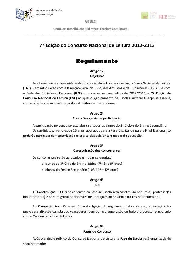 Agrupamento de Escolas         António Granjo                                              GTBEC                       Gru...