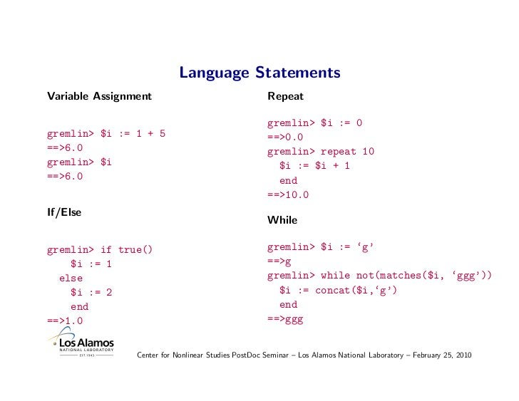 Language Statements Variable Assignment                                  Repeat                                           ...