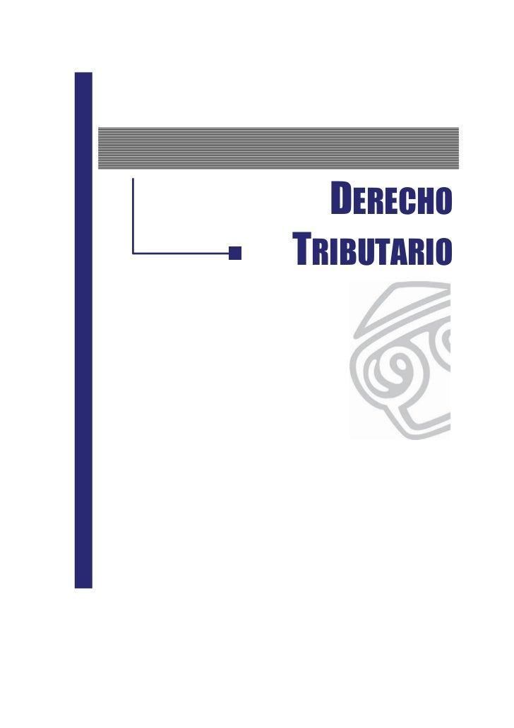 DERECHOTRIBUTARIO