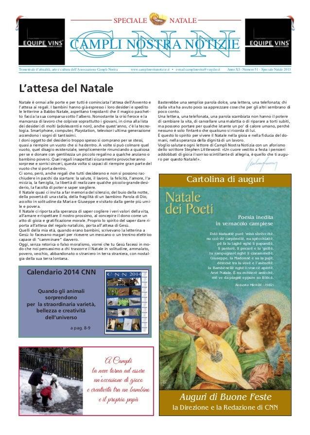 SPECIALE  NATALE  C NN  CAMPLI NOSTRA NOTIZIE Trimestrale d'attualità, arte e cultura dell'Associazione Campli Nostra  www...