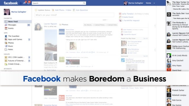 Facebook makes Boredom a Business