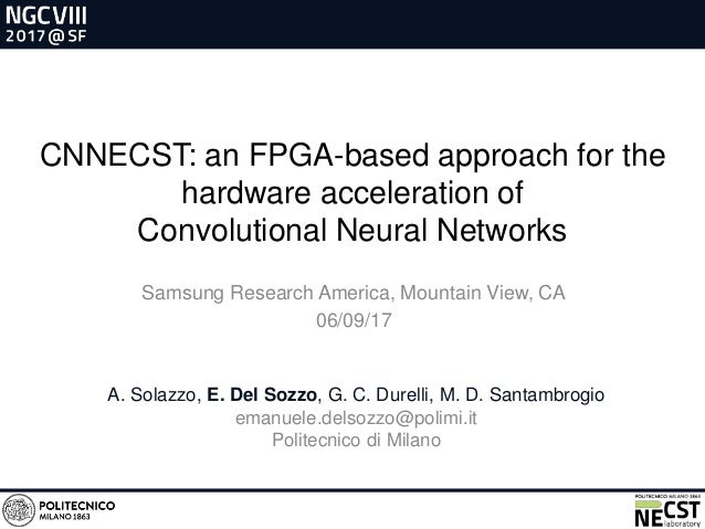 CNNECST: an FPGA-based approach for the hardware