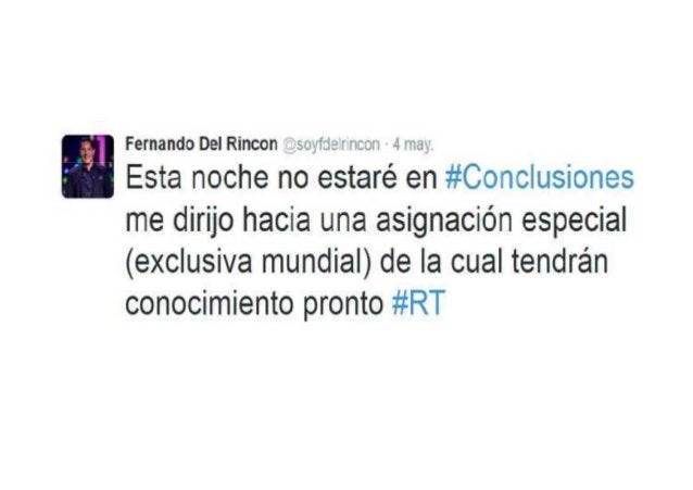 4.- Fernando del Rincón llega a La Paz Según el reporte de flujo migratorio de la Dirección General de Migración, el prese...