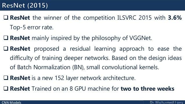Convolutional Neural Network Models - Deep Learning