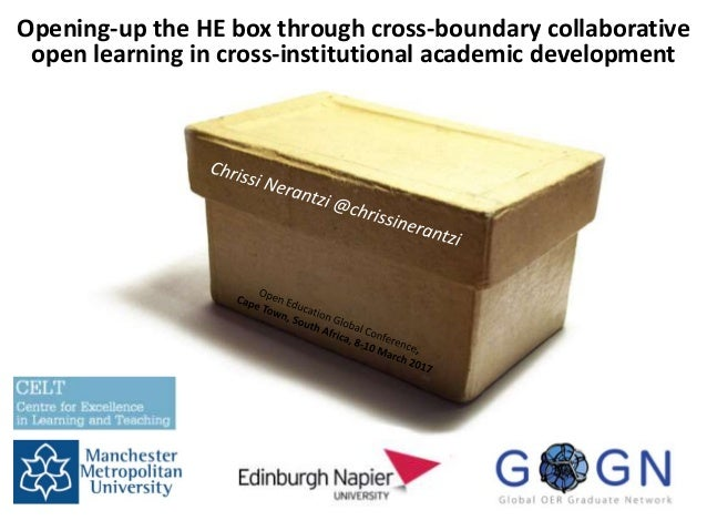 Opening-up the HE box through cross-boundary collaborative open learning in cross-institutional academic development
