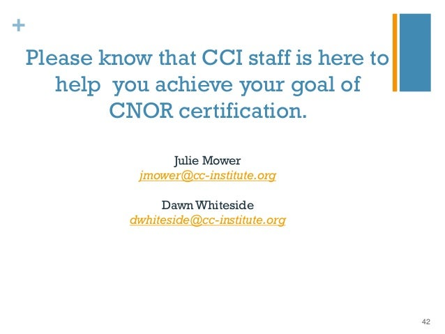 Cnor Certification: Pathway to Excellence