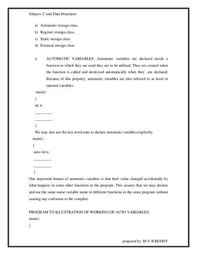 C notes by m v b reddy(gitam)imp notes all units notes 5