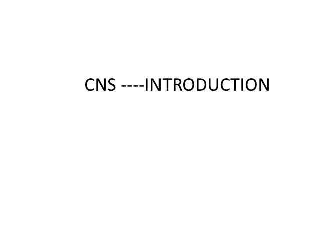 CNS ----INTRODUCTION