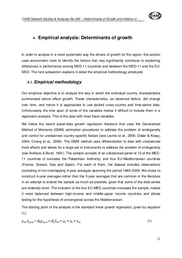 the determinants of inflation This paper aims to modeling the determinants of inflation in sudan via gmm method for the period 2000-2017to help in formulating an effective decreasing inflation rate policy.