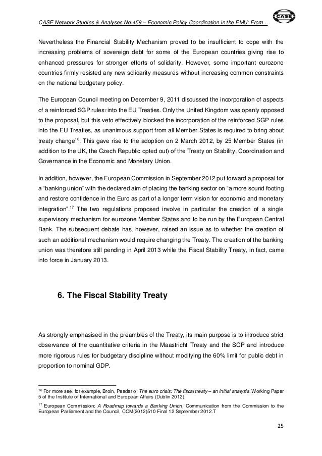 economic policy coordination essay Economic policy coordination, has responded along several fronts notably, it  accelerated the program for global financial sector reform, strengthened.