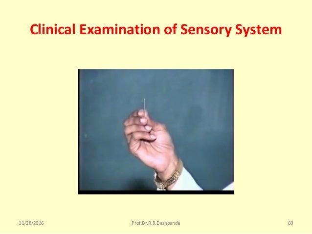 Clinical Examination of Sensory System 11/28/2016 Prof.Dr.R.R.Deshpande 60