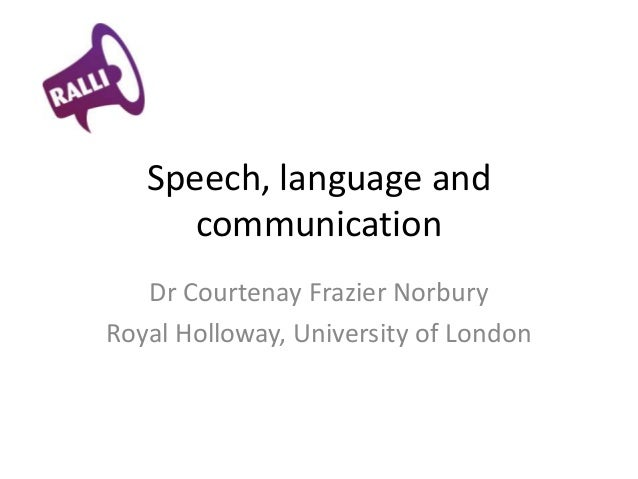 relationship of speech communication and language disorders