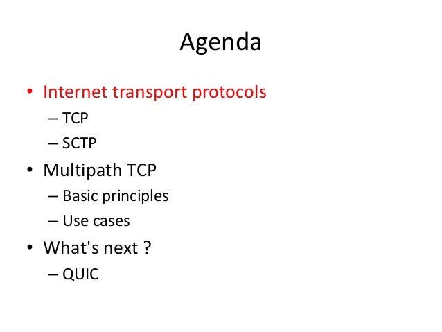 Beyond TCP: The evolution of Internet transport protocols Slide 2