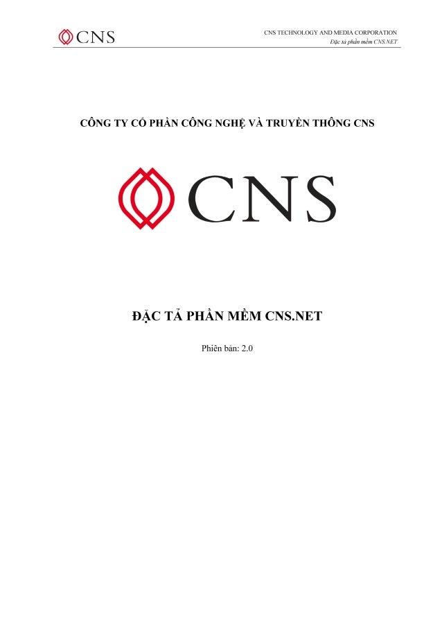 Giới thiệu giải pháp quản trị doanh nghiệp CNS.NET