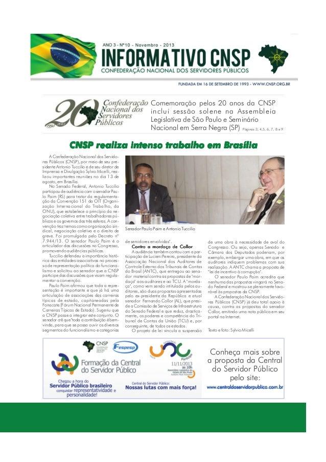 Comemoração pelos 20 anos da CNSP inclui sessão solene na Assembleia Legislativa de São Paulo e Seminário Nacional em Serr...