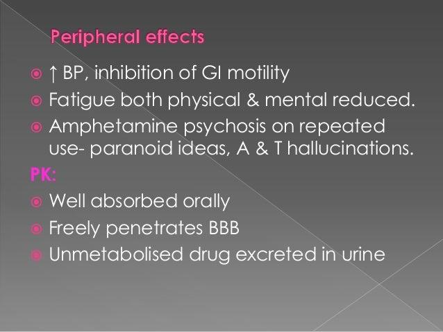 Fenfluramine, dexfenfluramine used earlier to treat obesity  Discouraged due to: Tolerance  Insomnia, pul.htn, abuse po...