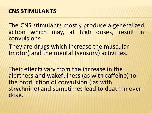 Cns Stimulants Cognitive Enhancers