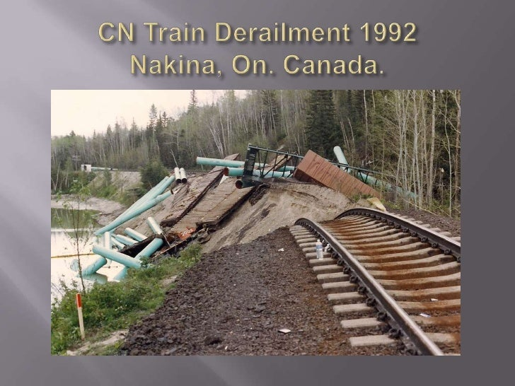 CN Train Derailment 1992Nakina, On. Canada. <br />