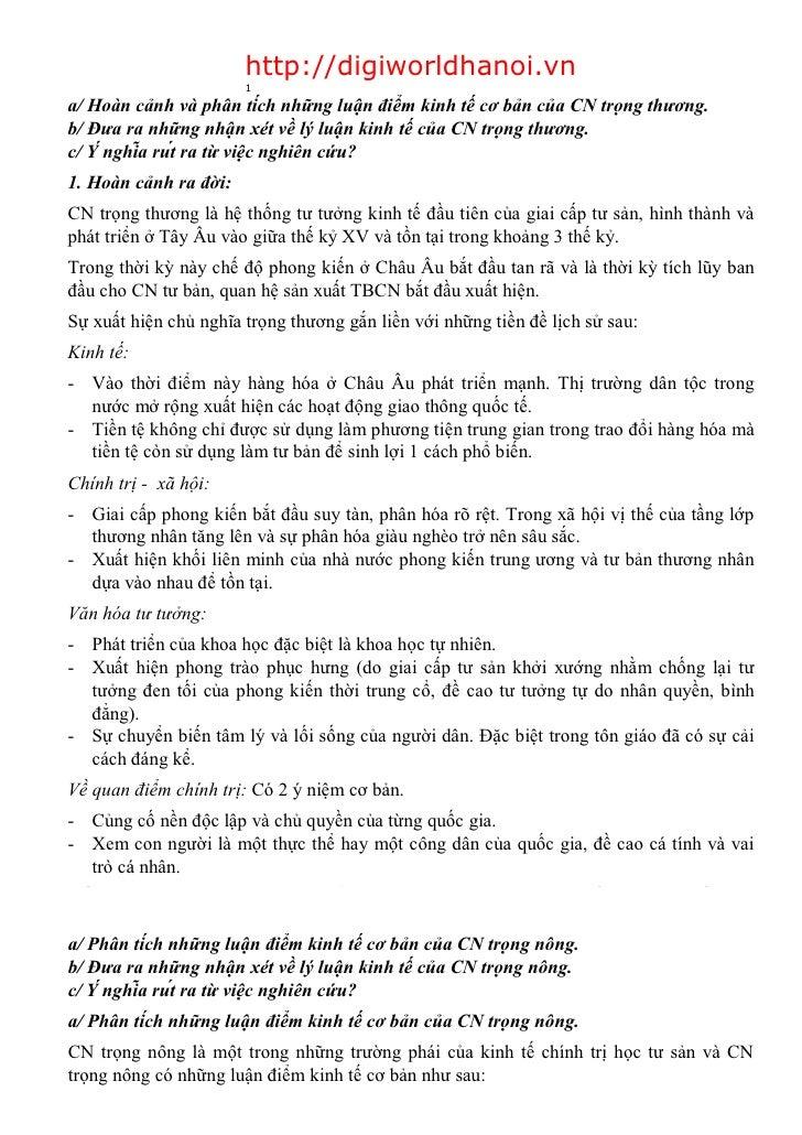 1                         http://digiworldhanoi.vn                        1 a/ Hoàn cảnh và phân tích những luận điểm kin...