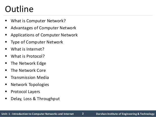 computer networks unit i This unit starts by exploring the different types of networks and the standards relating to network systems, including local and wide area networks networks can be either wired or wireless systems and, although.
