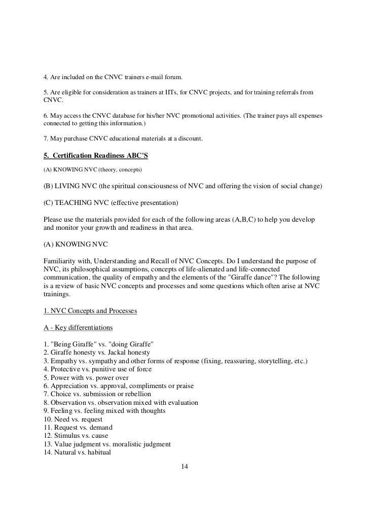 Cnvc trainer certification process
