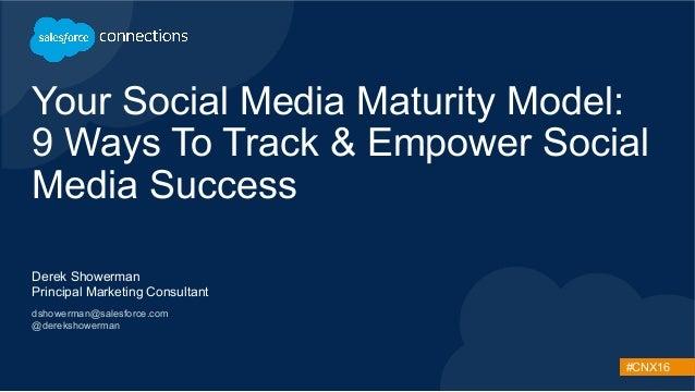 #CNX16 Your Social Media Maturity Model: 9 Ways To Track & Empower Social Media Success Derek Showerman Principal Marketin...