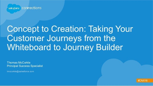 #CNX16 Concept to Creation: Taking Your Customer Journeys from the Whiteboard to Journey Builder Thomas McCorkle Principal...